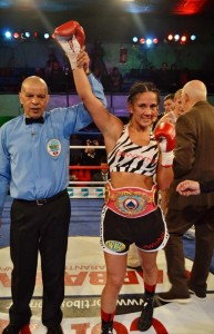 Serrano with the WBO title